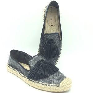 Via Spiga Tassel Espadrille Loafer snakeskin shoes